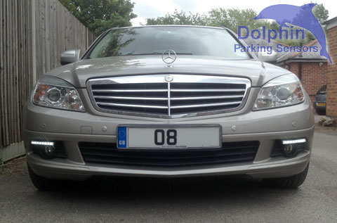 Mercedes installed with Daytime Running Lights